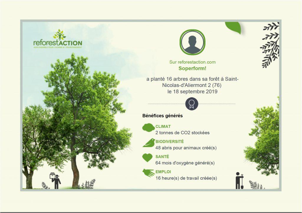 Certificat ReforestAction